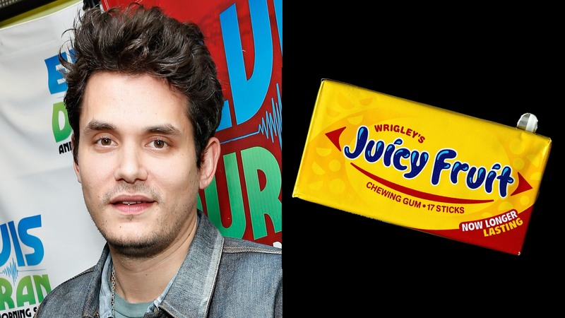 John Mayer and a package of Juicy Fruit.